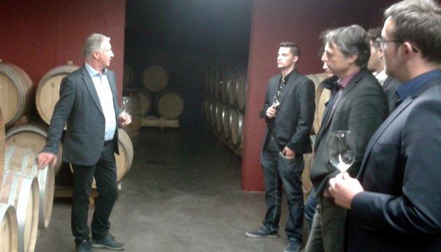 Mit unseren Kunden bei der Hausmesse vom Weingut Pfitscher